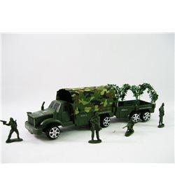 Военная машина 217 B-4 с прицепом и солдатиками