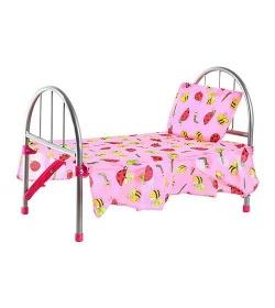 Кроватка 9342 -ws2772 для куклы, железная