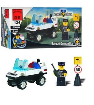 Конструктор BRICK 457796/124 полицейская машинка