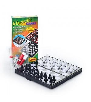 "Шахматы маленькие ""3 в 1"" 2831 в кор-ке"