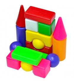 """Кубики строительные """"Сити Лайф"""" 095-4 """"BAMSIK"""", малый, мини 1"""