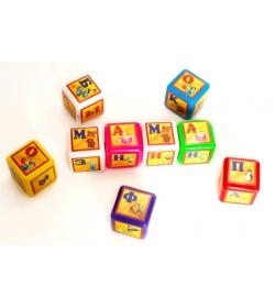 Кубик 028-3 азбука выдувной, 9 штук, малый BAMSIK