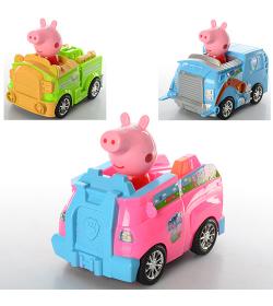 """Машинка XZ-372-73-74 A """"Peppa Pig"""", в кульке"""