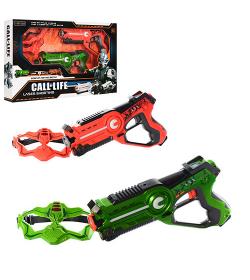 Набор оружия W 7001 D игровой бой, пистолет в кор-ке