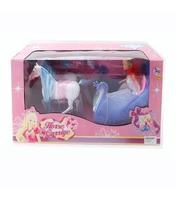 Карета 8603 лошадка, кукла, акссесуары, в кор-ке
