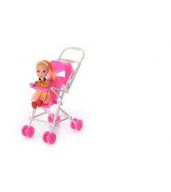 Кукла 262-18 с коляской, в кульке