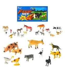 Животные H 641-1-3 (192шт) домашние, 3 вида, 10шт в кульке, 20-15-3см