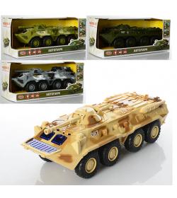 Военная машина 9629 ABCD инер-й, БТР, звук (рус),свет, в кор-ке