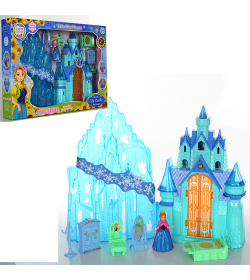 Замок SG-2995 (18шт) FR, принцессы, 23-34-14 см, муз, свет, мебель, фигурка, на батарейке (табл), в