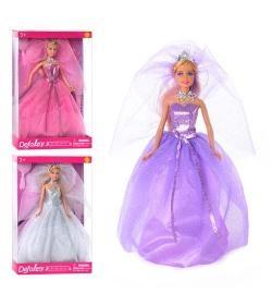 Кукла DEFA 8253 (24шт) на подставке, расческа, туфли, 3 цвета, в кор-ке, 33-22-5,5см