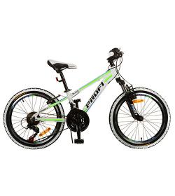 Велосипед 20 д. G20A315-L-3W (1шт/ящ),бело-салат.