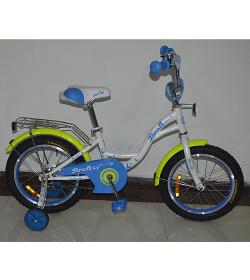 Велосипед детский PROF1 14д. G1424 (1шт/ящ) Butterfly, белый