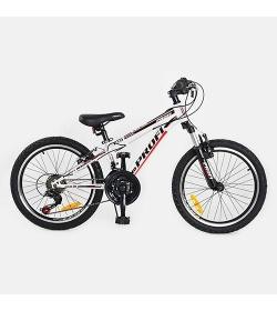 Велосипед 20 д. G 20 A 315-L1-W (1шт/ящ) бело-красный