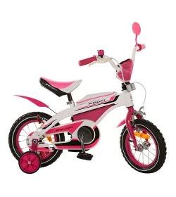 Велосипед PROFI детский 12д. 12BX405-2 (1шт/ящ) бело-розовый