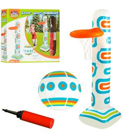 Игровой центр HF007 (24шт) надувной, баскетбол