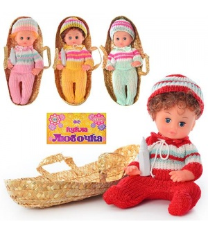 Кукла 133 MВ Любочка, в корзине