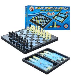 Шахматы MC 1178/8899 Магнитные, 3 в 1