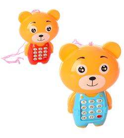 Телефон 188 в виде мишки, в кульке
