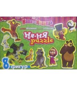 """Пазли """"Данко-тойс"""" M-НП10-01-01/02 """"Ня-Ня"""", """"Маша и медведь"""",  8 фигур"""