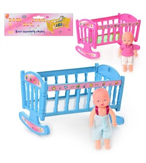 Кроватка 201 качалка, с куклой