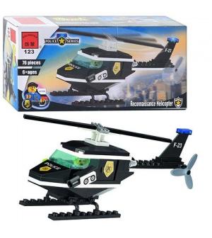 Конструктор BRICK 457797/123 Полицейская серия, вертолёт