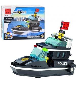 Конструктор BRICK 457830/130 полицейский катер