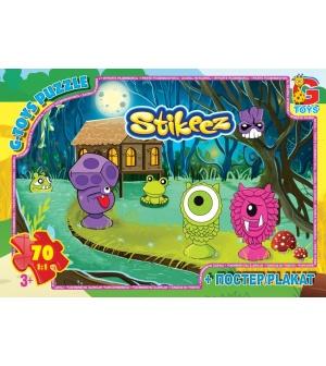 "Пазлы 70 эл. ""G-Toys"" ST 008 ""Stikeez"", в коробке"