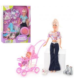 Кукла DEFA 20958 с дочкой и собачкой