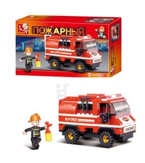 Конструктор SLUBAN M38-В0276 пожарная машина, 133 дет