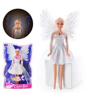 Кукла DEFA 8219 ангел, свет, в слюде