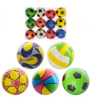 Мяч детский фомовый MS 0388 2,5 дюйма, 12 шт в кульке