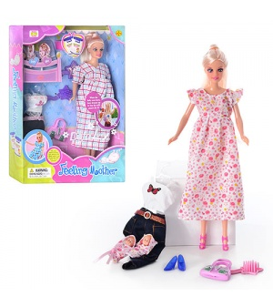 Кукла DEFA 8009 беременная, с одеждой, 2 ребенка, в кор-ке