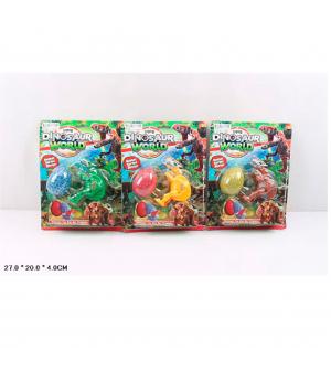 Динозавр 447-18 размер игрушки 16 см, складной, на листе