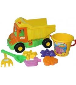 """Машина 39204 """"Multi truck"""" с набором для песка 8 элементов, """"Тигрес"""""""