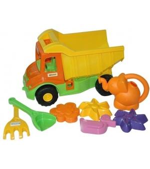 """Машина 39206 """"Multi truck"""", с набором для песка с лейкой 8 элементов, """"Тигрес"""""""