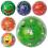 Мяч детский MS 0252 9 дюймов, ягоды, фрукты