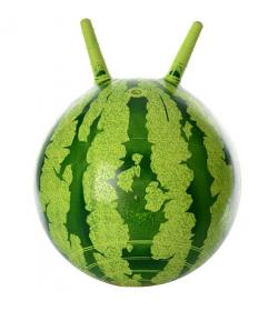 Мяч для фитнеса-38см MS 0473 с рожками, арбуз