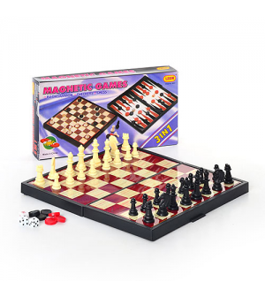 "Шахматы 9831 ""3 в 1"" средние, в кор-ке"