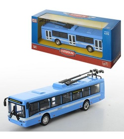 Троллейбус 6407 ABCD металлический, инер-й, в кор-ке