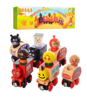 """Деревянная игрушка MD 0960 """"Поезд"""", на магнитах, в кор-ке"""