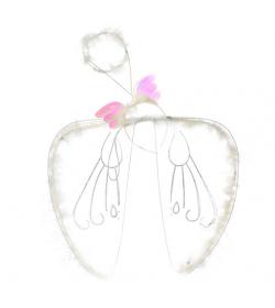 Крылья карнавальные H 16493 ангел, в кульке