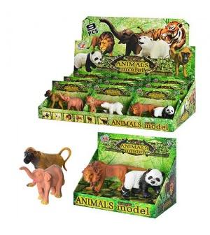 Животные Q 9899-186m (1уп) дикие, 3 вида, 2шт в кор-ке, 14-10-7см,42,5-21,5-10см