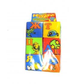 Кубики 0169kub (48шт.) ТехноК мякиш-6, Абетка