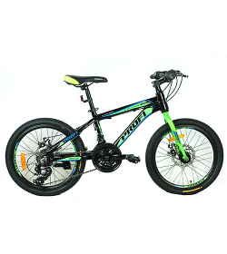 Велосипед 20 д. G20HARDY A20.2 (1шт/ящ),черно-салат.