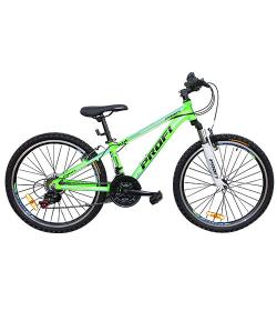 Велосипед 24 д. G24A315-L-2B (1шт/ящ) зелено-голуб.