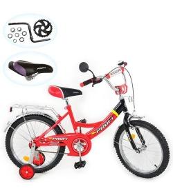 Велосипед P 1646A (1шт/ящ) PROFI детский 16д. красно-черный.