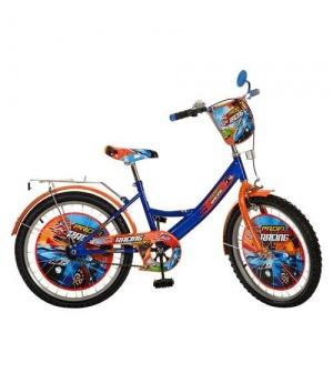 """Велосипед детский PROF1 мульт 20д. PR 2043 """"Racing"""", оранжево-синий"""