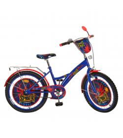 """Велосипед детский PROF1 мульт 20д. PS 2031 (1шт/ящ) """"Spider"""", сине-черный"""