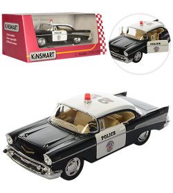 "KT Машинка жел. HU KINSMART KT 5323 W ""CHEVROLET BEL AIR POLICE 1957"""