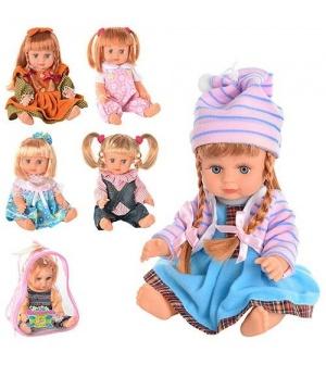 Кукла JT ОКСАНОЧКА 5070-5077-5072-5142 (36шт) 28см, муз(укр), стихи, 6 видов, в рюкзаке, 22-17-12см